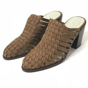 1. State Sz 8.5 Brown Suede Knitted Mules